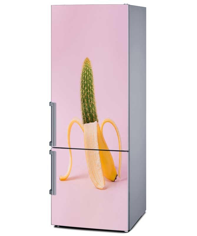 Αυτοκόλλητο Ψυγείου Μπανάνα-Κάκτος