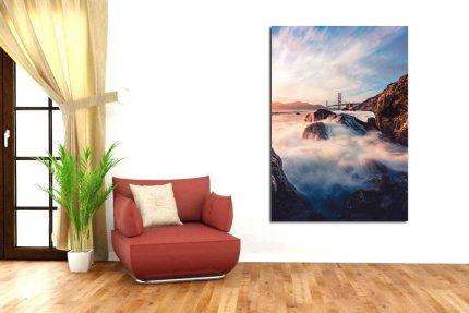 Πίνακας σε καμβά Γέφυρα στο ποτάμι